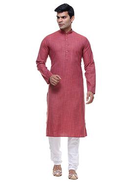 Dark Thulian Pink Cotton Kurta Pyjama
