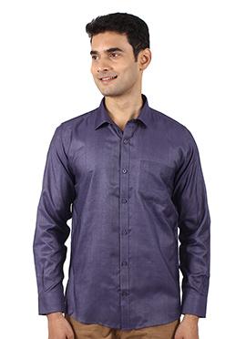 Dark Violet Art Silk Shirt