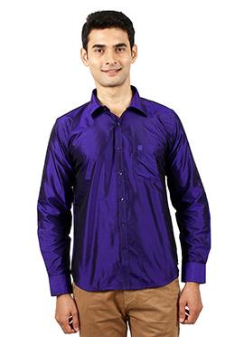 Dark Violet Pure Silk Shirt