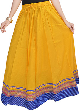 Dark Yellow Cotton Skirt