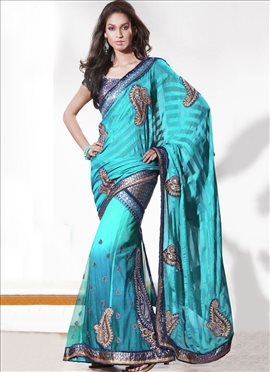 Dashing Dual Shaded Lehenga Saree