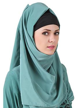 Deeba Maternity Teal Crepe Hijab