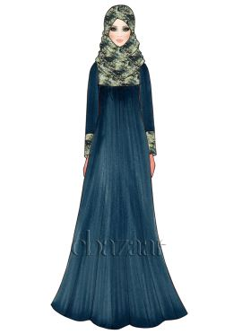 Deep Gibraltar Sea Georgette Abaya