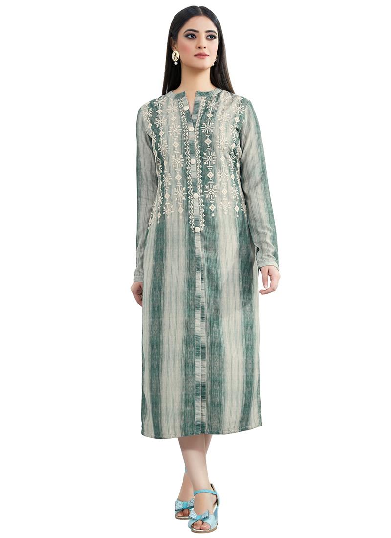 1743e5a767 Buy deep green muslin dress printed dresses and gown online jpg 800x1100 Green  muslin gown