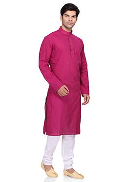 Deep Magenta Cotton Kurta Pyjama