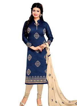 Deep Navy Blue Ayesha Takia Churidar Suit