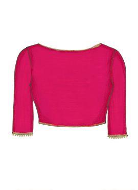 Deep Pink Georgette Blouse