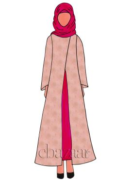 Deep Pink Georgette Fustan
