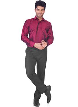 Deep Pink Pure Silk Classic Shirt