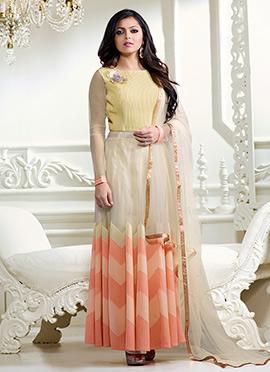 Dhrasti Dhami Tricolor Anarkali Suit