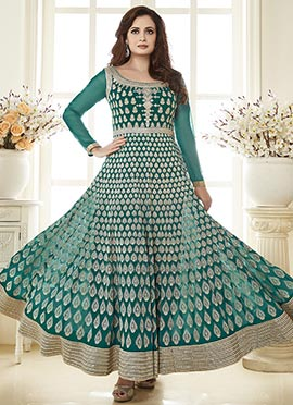 Dia Mirza Green Anarkali Suit