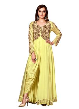 Dia Mirza Yellow Dhoti Suit