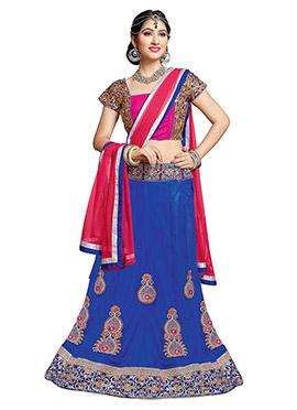 Disha Parmar Blue Net A Line Lehenga Choli