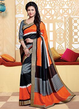 Divyanka Tripathi Multicolored Art Silk Saree