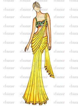 DIY Ae Dil Hei Mushkil Anushka yellow saree