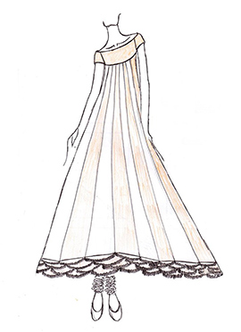 DIY Beige And White Georgette Anarkali Suit