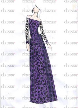 DIY Purple Lace Straight Suit
