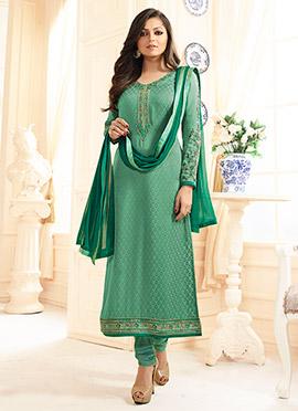 Drashti Dami Aqua Green Straight Suit