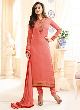 Drashti Dami Peach Straight Suit