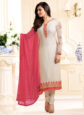 Drashti Dami White Straight Suit