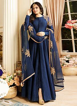 Drashti Dhami Blue Anarkali Suit