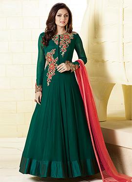 Drashti Dhami Green Anarkali Suit