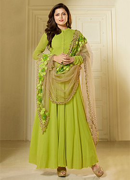 Drashti Dhami Green Anarkali Suit