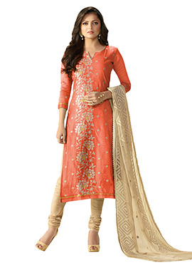 Drashti Dhami Orange Churidar Suit