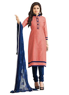 Drashti Dhami Peach Churidar Suit