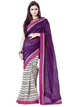 Drasthi Dhami Art Silk Half N Half Saree