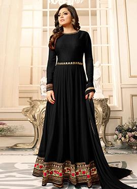 Drasti Dhami Black Georgette Anarkali Suit