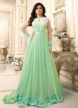 Drasti Dhami Green Georgette Anarkali Suit