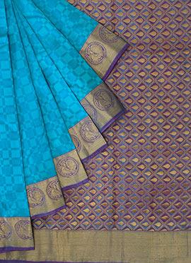 Dual Shaded Pothys Kancheepuram Pure Silk Saree