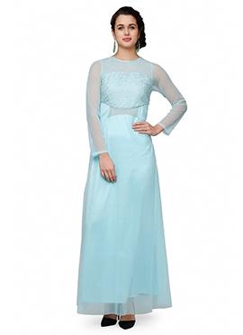 Eavan Powder Blue Anarkali Gown