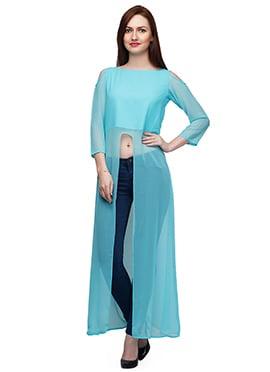 Eavan Turquioise Blue Long Tunic