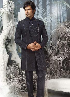 Elite Brocade Indowestern Sherwani