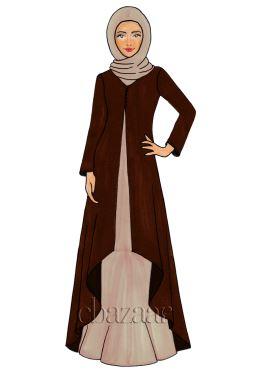 Emperador Georgette Jacket Style Abaya