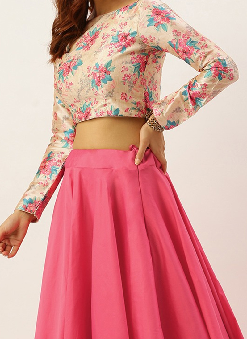 Shop Ethnovogue Custom Made Beige N Pink Lehenga Made To Measure Dress For Women In All Sizes Ghbs01812127