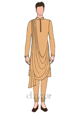 EthnoVogue Custom Made Cowled Kurta Pyjama Set ... d91c3386c