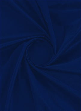 Evening Blue Dupion Silk Fabric