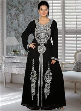 Fabulous Black Georgette Fustan