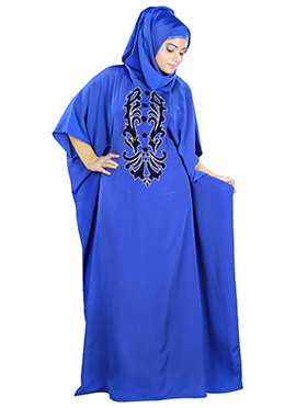 Fadila Royal Blue Crepe Fustan