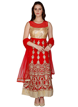 Famous By Payal Kapoor Net Ankle Length Anarkali Suit