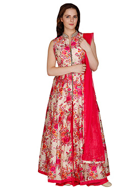 Famous By Payal Kapoor Printed Floor Length Anarka