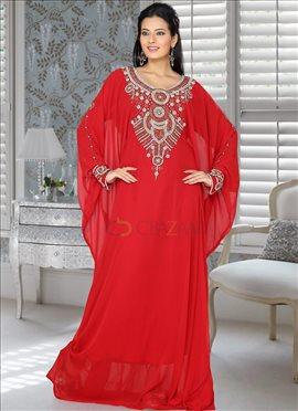 Fantabulous Red Farasha Fustan