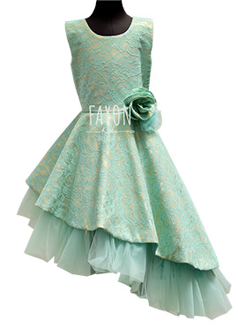 Fayon Aqua Green Kids Gown