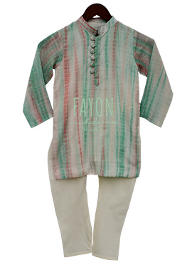 Fayon Multicolor Kids Kurta Pyjama Set