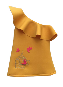 Fayon Mustard Lycra Dress