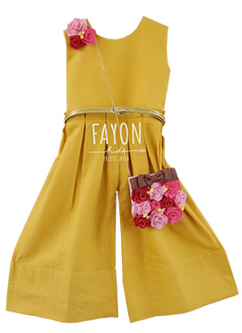 Fayon Mustard Yellow Kids Jump Suit