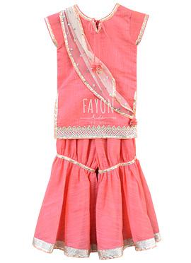 Fayon Pink Kids Sharara Suit